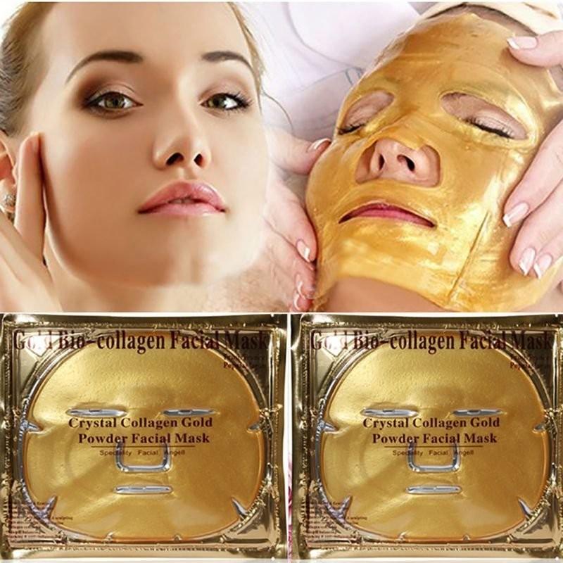 Золотая коллагеновая маска на все лицо Collagen Crystal Facial Mask