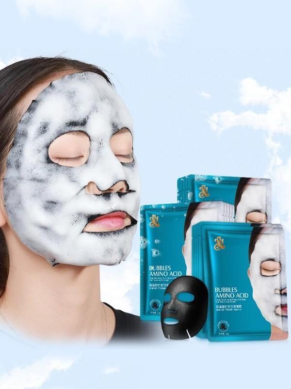 NJ Кислородная пузырьковая маска на тканевой основе  Bubbles Amino Acid Mask