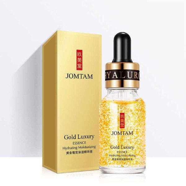 Купить Сыворотка уменьшающая поры с частичками золота JOMTAM Gold Luxury Essence ,15мл по цене 85 руб. в интернет магазине kylieopt.ru