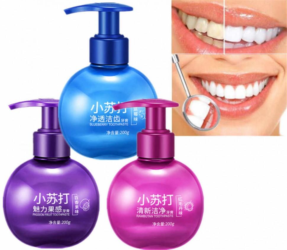 """Images Гелевая отбеливающая зубная паста со вкусом черники, защита от образования зубного камня"""", 200 гр."""