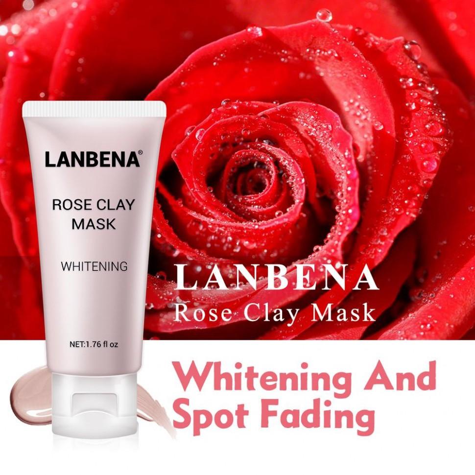 Глубоко увлажняющая, питательная, отбеливающая, очищающая поры Lanbena Rose, 50гр