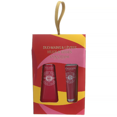 Набор Loccitane Hugs and Kisses Gift Set Duo Hands and Lips Delightful Rose